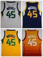 Wholesale Orange Fans - NCAA Swingman 2018 Mens Stitched Fans 45 Donovan Mitchell Jersey 27 Rudy Gobert Navy White Basketball Jersey Mitchell Jerseys