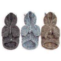 osos de peluche lindos gratis al por mayor-Ropa para mascotas Otoño e invierno Nueva ropa para perros de peluche Perro lindo Oso perezoso Abrigos para perros MOQ: 1pcs Envío gratis