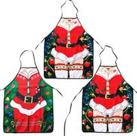 yılbaşı dekor mutfağı toptan satış-Noel Önlük Seksi Santa Clause Önlük Polyester Mutfak Önlüğü Merry Christmas Parti Malzemeleri Xmas Dekor Eşofman