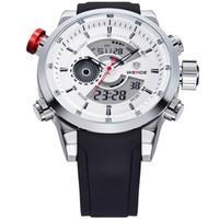 Wholesale weide quartz brands watch for sale - Group buy 2017 Mens Watches WEIDE Top Brand Luxury Quartz Men Male Clock Digital LED Watch Military Sport Watch relogio masculino WH3401 S1019