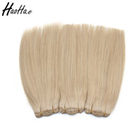 Wholesale Hand Tied Weave - Hand Tied!!!double drown!!! #22 Color Hair Weft 14 inch brazilian Straight Hair Extensions Cuticle Aligned Free Shipping