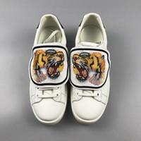 ботинки из ананаса оптовых-Дизайнер низкий топ белая кожа Мужчины Женщины Повседневная обувь Мода Тигр кошка ананас слепой для любви съемные кроссовки
