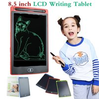 Wholesale Tablet Electromagnetic - 8.5 inch LCD Writing Tablet Memo Drawing Board Blackboard Handwriting Pads With Upgraded Pen for Kids Office One Butt Christmas gifts