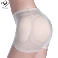 Wholesale Butt Inserts - Wechery Sexy Women 4pcs Pads Enhancers Butt Lifter Shapers Control Panties Removable Inserts Sponge Padded Slimming Underwear
