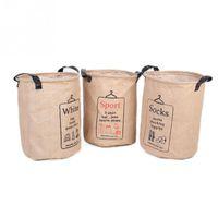 ingrosso il cesto ostacola-Lino per biancheria da bucato in cotone