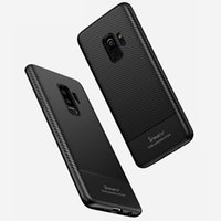 Wholesale Drop Proof - iPaky Case For Samsung Galaxy S9 Plus Carbon Fiber TPU Back Cover S9 Drop-proof Shockproof Soft Ultra Thin Slim Cases With Package Stock