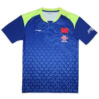 Wholesale polyester t shirts china for sale - Group buy 2018 Li Ning China table tennis shirt Men Ma Long Jerseys pingpong t shirt ping pong Team clothes A