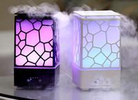 ingrosso rosh atomizzatori-200 ML Water Cube Diffusore di Aromi Umidificatore ad Ultrasuoni con Luci LED Home Office Desktop Mini Diffusore di Nebulizzazione Olio Essenziale LLFA