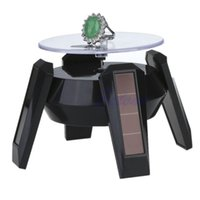 Wholesale solar power display stand - JAVRICK Jewelry Tool Solar Power 360 Degree Jewelry Rotating Display Stand Turn Plate Table Jewelry Organizer Hard Display Stand