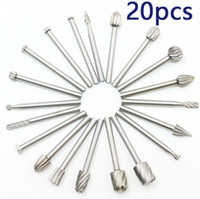 20PCS Electric Grinding Accessories Diamond Bits alloy Rotary Burr Steel Grinding Burrs Carpentry Wood Cutter Rotary Ras