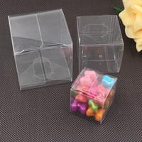 limpar caixas de pvc para doces venda por atacado-20 Pcs Transparente Artesanal PVC Caixas De Bombas de Plástico Transparente PVC Caixas de Caixa de Presente Transparente À Prova D 'Água PVC Carry Casos Caixa de Embalagem