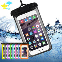 Wholesale waterproof case online - Dry Bag Waterproof case bag PVC Protective Phone Bag Pouch With neckband Bags For Diving Swimming For smartphones up to inch