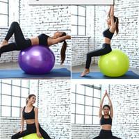 ingrosso esercizi palla palla-Ispessimento Yoga Ball Donna incinta Bambini Esercizio fisico Palle New Balance Massage Bodybuilding portatile Alleviare il dolore 14 9dk cc
