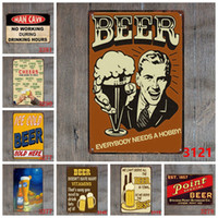ingrosso segni d'amore-Commercio all'ingrosso I LOVE BEER 30 * 30cm Tintins Poster Tin Signs Room Vintage Home Decor Targhe in metallo Wall Art Paint Crafts Supplies Graphic Tablet