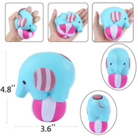 Wholesale elephant ball - Elephant Play Ball Jumbo Squishy Kawaii Squeeze Cream Scented Slow Rising Squeeze Toys Novelty Items Stress Reliever kids Gift FFA146