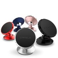 telefon çevirme standı toptan satış-Orijinal evrensel araç tutucu manyetik cep telefonu 360 döner mıknatıs hava firar dağı mini tutucu iphone samsung akıllı ph için standı