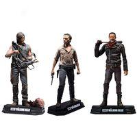 juguetes muertos vivientes al por mayor-The Walking Dead Negan Rick Grimes Daryl Dixon Pvc figura de acción coleccionable modelo de juguete 7