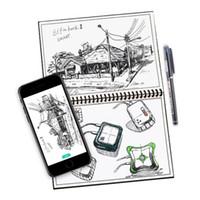 canetas para notebooks venda por atacado-Elfinbook 2.0 Apagável Notebook Reutilizável Inteligente 2 Notebook Microondas Onda Nuvem Apagar Notepad Forrado Com Caneta A5 B5 Papel DHL