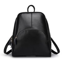 Wholesale Designer Leather Travel Bags - 2018 High Quality Fashion Travel Bag Backpack Women PU Leather Bags Brand Designer Backpacks Free Shipping