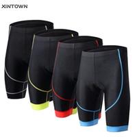 шорты для велосипеда оптовых-Велоспорт шорты Мужчины Женщины 3D мягкий велосипед короткие колготки удобные дышащие нижнее белье велосипед шорты одежда 5-цвета