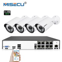 drahtlose hdmi kamera großhandel-MISECU H.265 / H.264 48V 8 Kanal POE 4.0MP 4K Überwachung POE CCTV System Hi3516D OV4689 P2P HDMI Metall 36pc IR cctv
