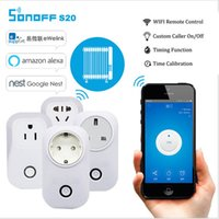 Wholesale Socket Control Power - Sonoff S20 Wifi Wireless Remote Control Socket Smart Home Power Socket EU US UK Standard Via App Phone Smart Timer Home Plug