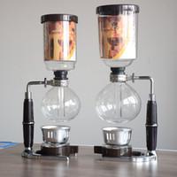 tasses à thé achat en gros de-Haute Qualité 5 tasses Japon style Siphon cafetière Siphon maker Thé Siphon pot Tca3 Tca5 500ML