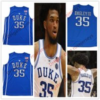 Wholesale Duke Blue - Duke Blue Devils #35 Marvin Bagley III Jersey 2018 NEW royal blue white round neck collar Stitched NCAA College Basketball Jerseys S-3XL