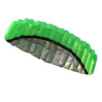 ingrosso divertenti aquiloni-Aquilone da 2,5 m con doppia linea acrobatica Parafoil Power Soft Kite 2 x 30m Lines Winder Outdoor Fun Toy Beach Kites