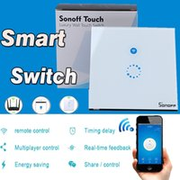 Sonoff Wifi Touch Wall Switch Wifi LED Touch Timer Switch Painel de vidro Controller Light Switch Home Remote Control Universal US EU Plug APP