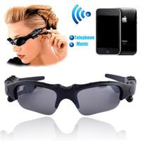 musique pour lunettes de soleil achat en gros de-Lunettes de soleil Casque Bluetooth Lunettes de soleil Stéréo Sans fil Casque de sport Écouteurs mains libres Lecteur de musique MP3 avec emballage de vente au détail