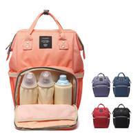 ingrosso sacchetto bagnato da viaggio del bambino-Lequeen Mummia maternità Baby Care Nappy Bag Marca di grande capacità Baby Dry Wet Bag Travel Backpack Nursing Diaper
