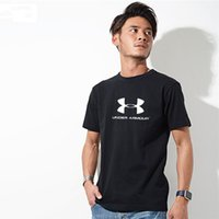 Wholesale high quality plus clothing - Men T Shirt Plus Size Clothes Sports Brand Printed Short Sleeve Shirts High Quality T Shirt Casual Cotton Men s Clothing Ua xl xl