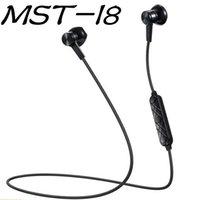 b наушники беспроводные оптовых-MST-I8 магнитные Bluetooth-наушники стерео микрофон беспроводная гарнитура спортивные Bluetooth-наушники для Samsung S9 8 Iphone X 8 с розничной B