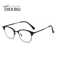 76edca65851c2 Armações de Óculos de Óptica do vintage Mulheres Clássico Prescrição Miopia  Óculos de Armação Homens Plástico Metálico Metade Eyewear WL981