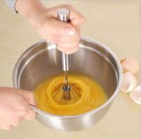 Wholesale Hand Blender Whisk - Rotating Whisk Milk Frothier Egg Mixer Blender For Health Drinks Smoothies Egg Whites Fast Free Shipping
