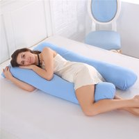 Wholesale solid green bedding online - Sleeping Support Pillow For Pregnant Women Body Cotton Pillowcase U Shape Maternity Pillows Pregnancy Side Sleepers Bedding