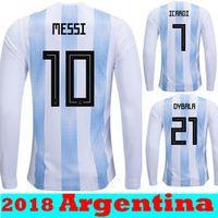 538cd0b1239 Thai Quallity Maillot de Foot Homme World Cup 2018 Jerseys Argentina  Maradona Messi Football long sleeve Soccer Jerseys Argentine Shirts
