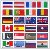 bordado nacional al por mayor-2018 Unión Europea Todos los países Insignia de la bandera nacional Bandera nacional Palo mágico Bordado Paño Logotipo Brazalete insignia CCA9602 120 unids