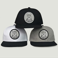 Wholesale rounded hat women online - Round Triangle Eye Snapback Caps Women Adjustable Baseball Cap Snapbacks Flat Peak Hip Hop Hats Ball Caps Colors OOA5032