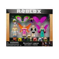 ingrosso accessori per figure d'azione-Action Figures Giocattoli 2 Stili Roblox Virtual world roblox building block doll con accessori confezione da due colori sacchetto