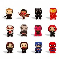 Wholesale avengers stickers - Free Shipping Marvel's the Avengers Fridge Magnets Cartoon PVC Home Decoration Refrigerator Magnets Blackboard Stickers Kids Party Gifts