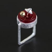 Wholesale mushroom stone - whole saleNatural Stone Ring 925 Sterling Silver Cute Mushroom Finger Rings For Women