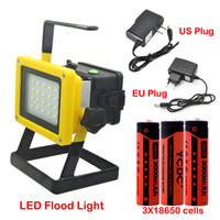 Wholesale led flood work lights rechargeable for sale - Group buy 30W Rechargeable Portable Flood Light Cordless LED Work Lamp Floodlight Spotlight Outdoor Emergency Appliance Lamp with Battery Charger