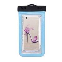 iphone смартфон оптовых-Универсальный водонепроницаемый сотовый телефон ПВХ чехол сухой чехол для iPhone 7/6 плюс Samsung Galaxy Smart мобильный телефон прозрачный горячий