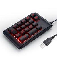 teclado macbook à prova d'água venda por atacado-Portátil 2.4G USB Teclado Com Fio RGB 19 Teclas Mini Teclado Digital À Prova D 'Água Numérico Teclado Para IMac / MacBook Air / Pro Laptop