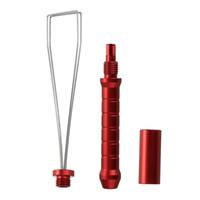 ingrosso tappi in alluminio-Dispositivo di regolazione tastiera per estrattore Keycap per strumento di pulizia tastiera meccanica Lega di alluminio Dispositivo di rimozione tappo a chiave rosso multifunzione