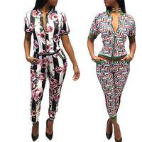 Wholesale Female Camouflage Clothing - Women's knit sport Sets Camouflage 2 Piece Sweat Suit Set Pants+Short Jacket Slim Women's Clothing Female Tracksuit Suit Set SW2-10