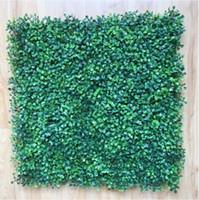 ingrosso recinzione in plastica-Artificiale plastica bosso mat 50cm x 50 cm siepi sintetiche falso fogliame tappeto d'erba per la casa recinzione giardino decorazioni forniture