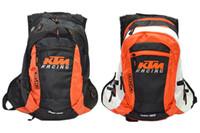 Wholesale ktm racing backpack for sale - Group buy For KTM Waterproof Motorcycle Backpack Laptop Bicycle Helmet Bag Bicycle Shoulders Computer Racing Off Road Luggage Unisex Motocross Bags